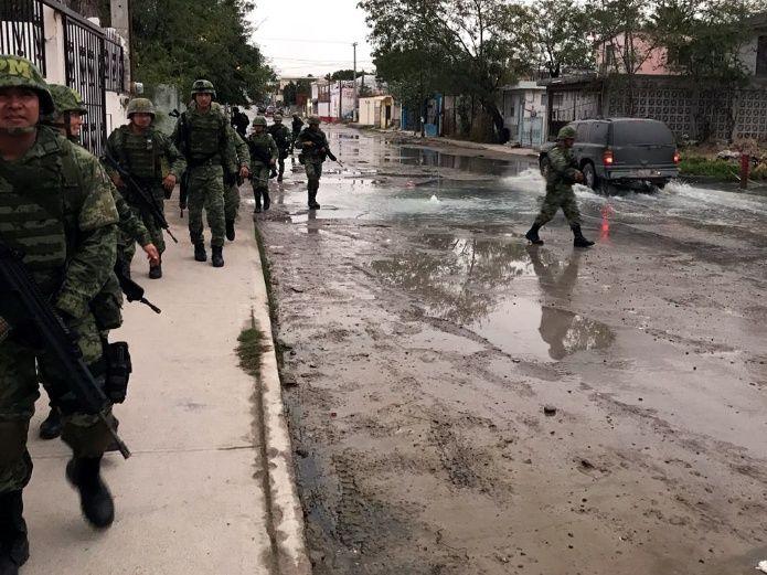 Recorre Policía Militar a pie zonas de Reynosa