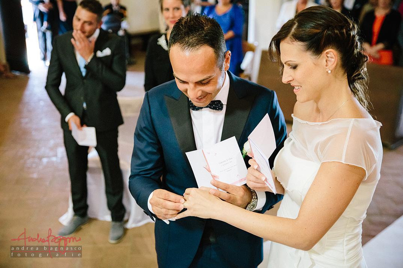 scambio anelli foto matrimonio