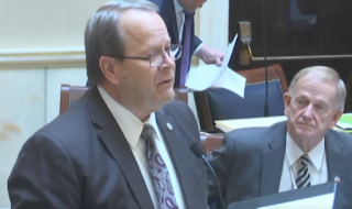 Sen. David Buxton, R-Roy, explains the polygamy reparations bill on March 13, 2019, at the Utah Legislature. The Senate passed the bill 23-4 and sent it to Gov. Gary Herbert for his signature.