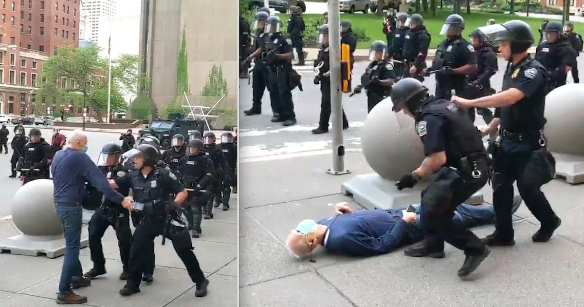 Disturbing Footage Shows Elderly Man Being Pushed To The Ground By Police In Buffalo, New York - Activists Reveal The Identity Of The Officer Involved