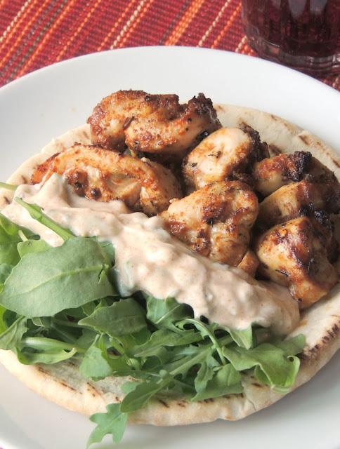 Harissa Spiced Chicken Kabobs