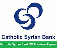 Catholic Syrian Bank SO Previous Papers