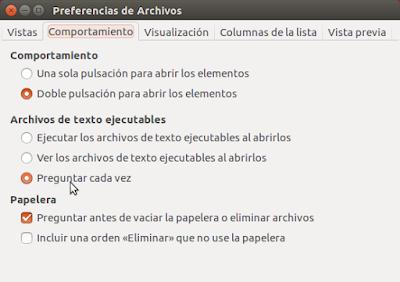 Preferencias de Archivos