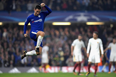 Highlight Chelsea 3-3 AS Roma, 18 Oktober 2017
