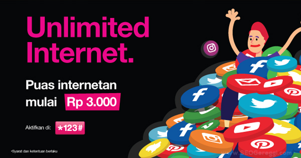 Paket Internet Unlimited Tri 3