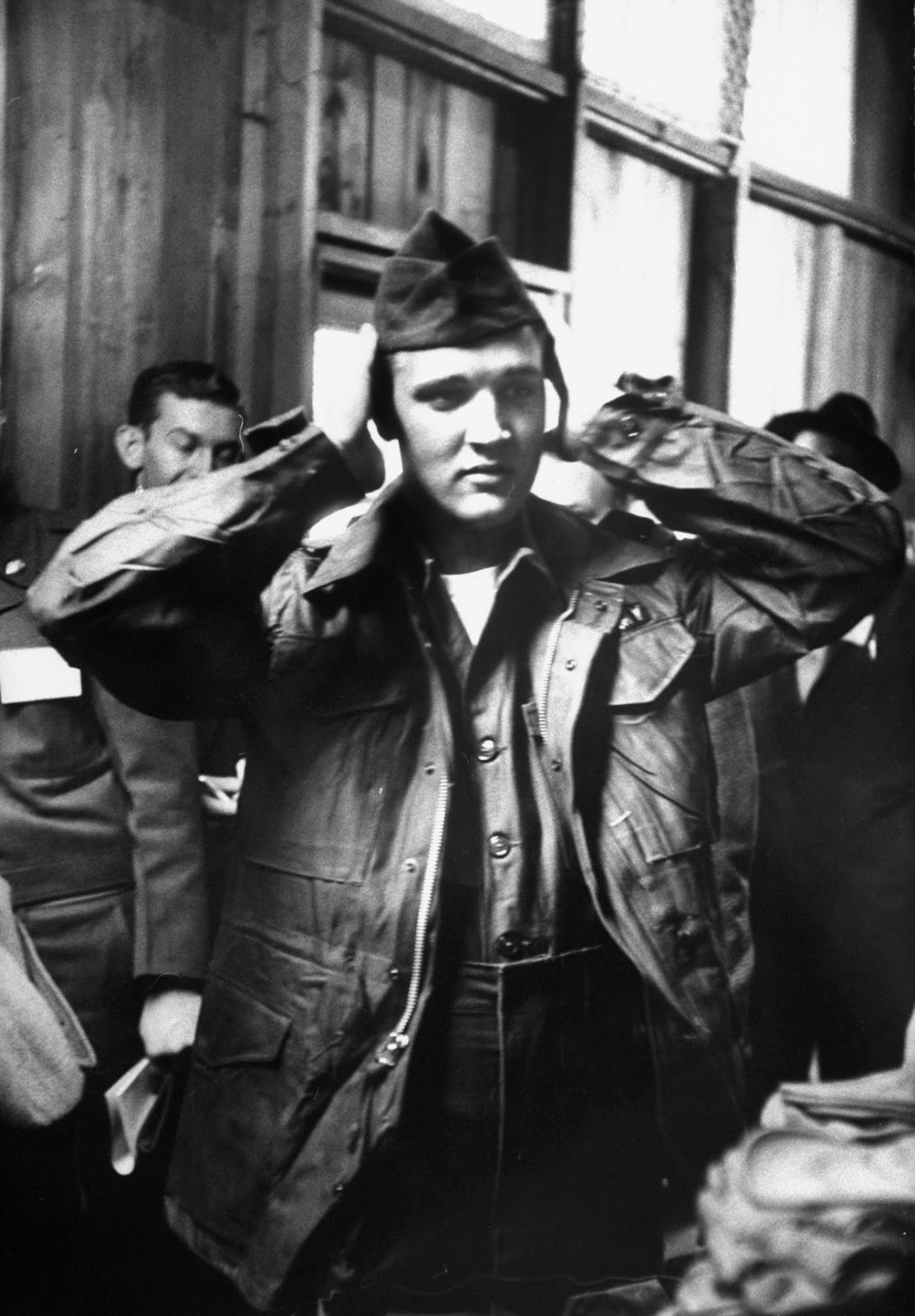 On March 24, 1958, Elvis Presley was inducted into the