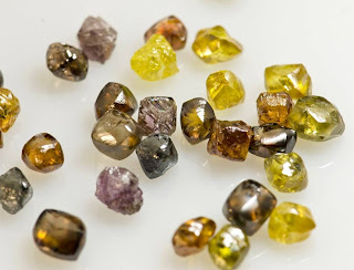 Rough Uncut Cognac Diamonds