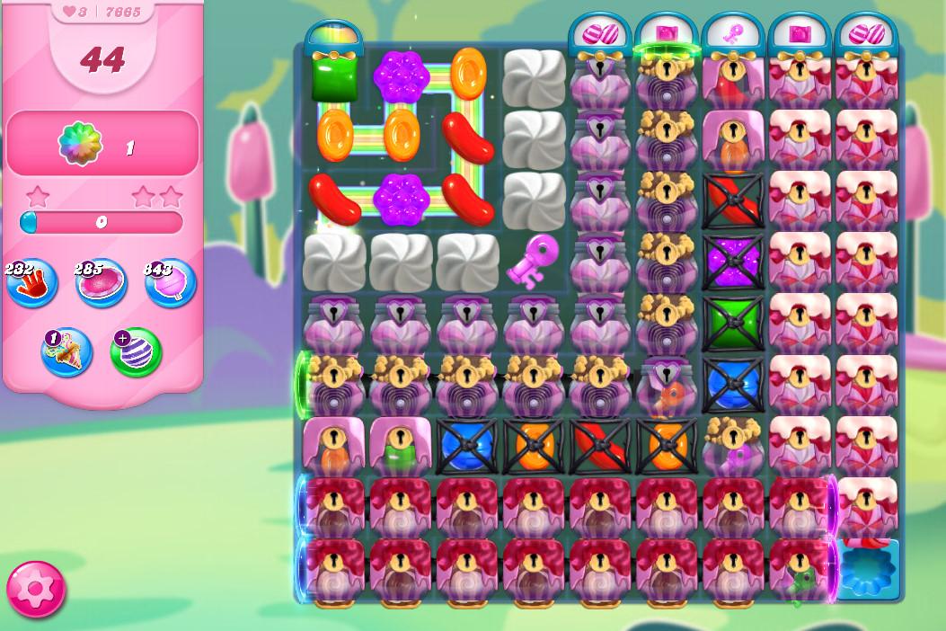 Candy Crush Saga level 7665