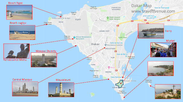 Tourist attractions on one map