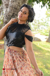 Actress Chetana Uttej Stills in Floral Long Skirt at Pichiga Nachav Movie Press Meet  0004.JPG