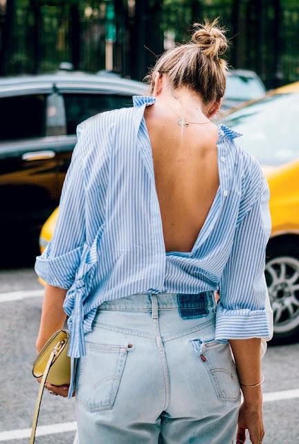 moda camisa ao contrario