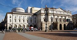 The Casino Ricordi, as it was known, is the building that adjoins Teatro alla Scala in Milan