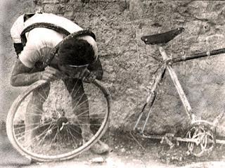 forare in bicicletta