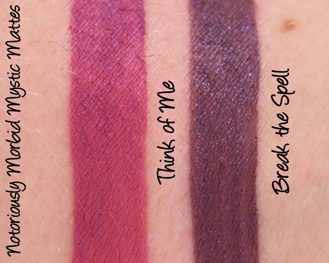 Notoriously Morbid Mystic Matte - Think of Me/Break the Spell Swatches & Review