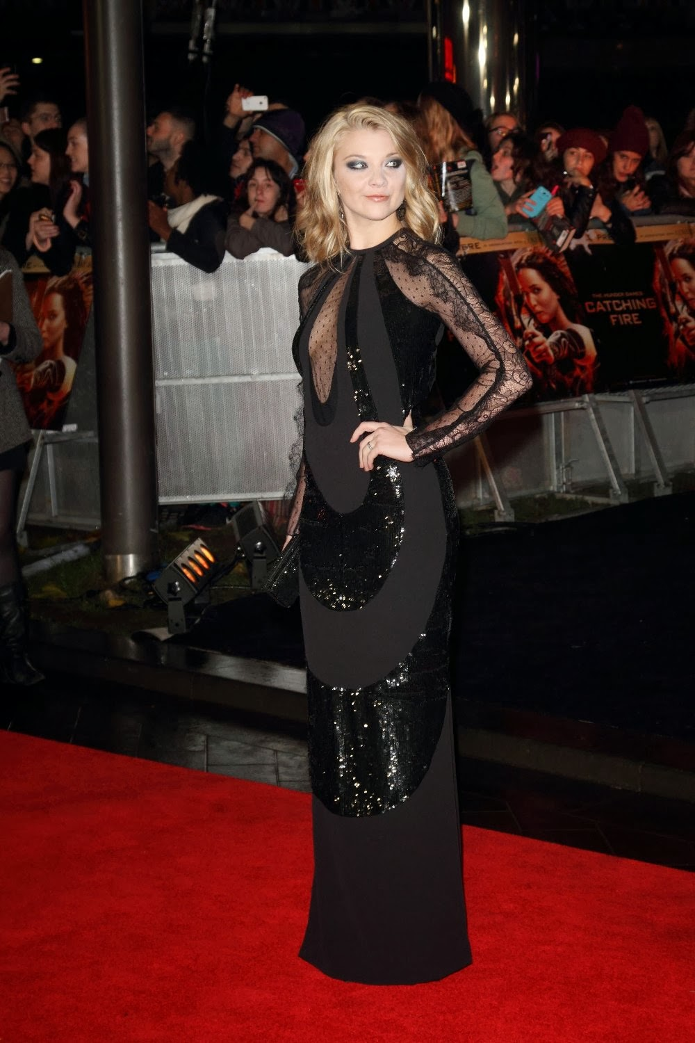 Natalie Dormer See Through Cleavage At The Hunger Games