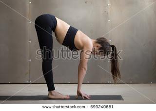 The forward bending pose