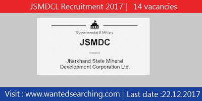 JSMDCL Recruitment 2017 |   14 vacancies  for Mines Manager and Accountant Posts