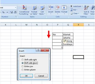 Cara Menyisipkan Sel, Baris dan Kolom di Microsoft Excel