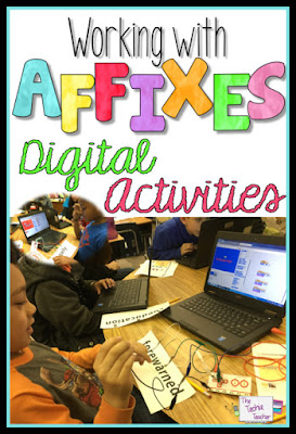 Check out this digital activites that will get your students excited to work with affixes!