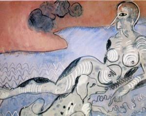 Mulher com um Cão - Francis Picabia e suas pinturas ~ O pintor que também era poeta