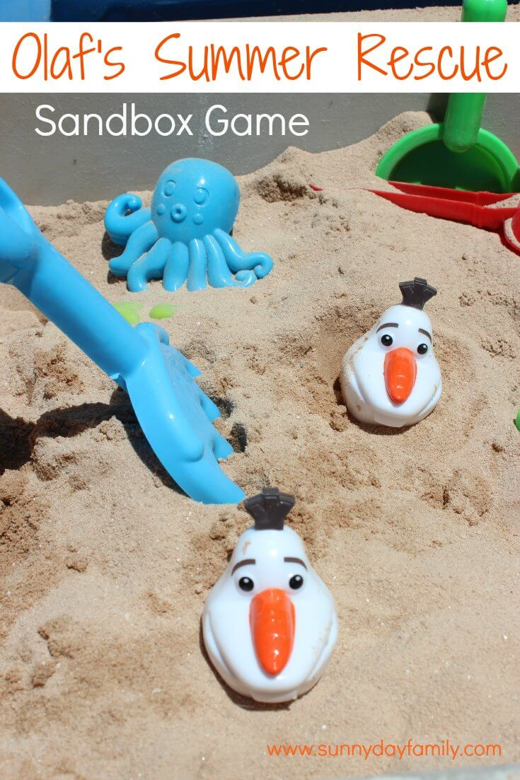 Save Olaf from melting with this fun summer sandbox activity for kids!