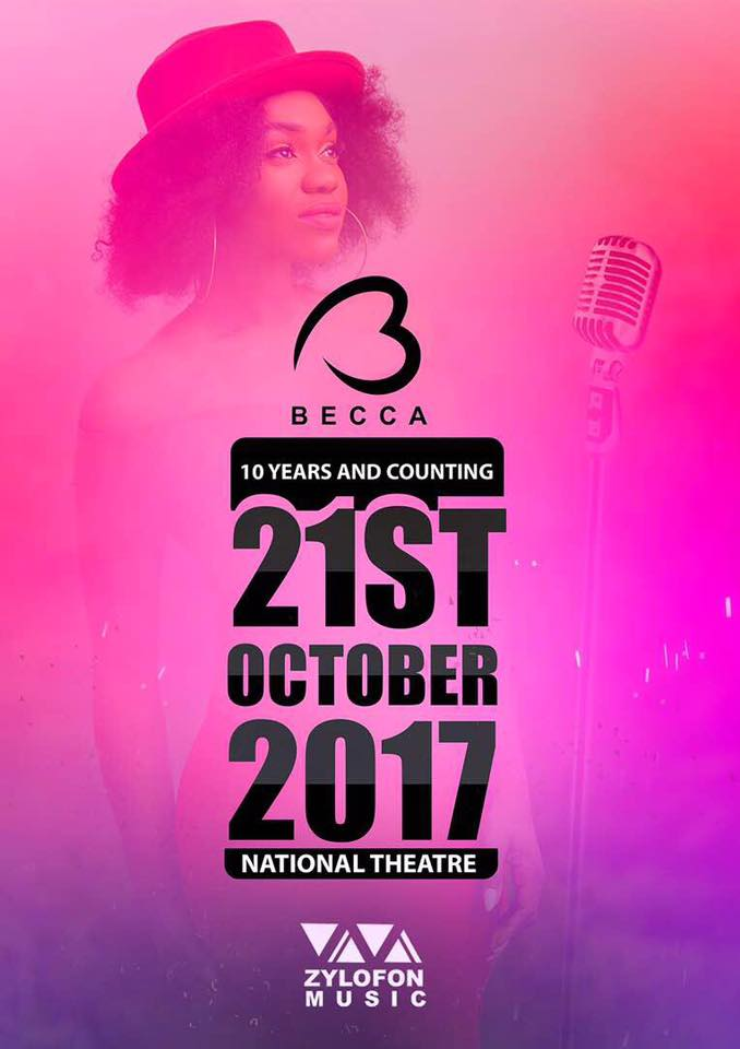 Becca announces concert to celebrate 10 years in music, October 21