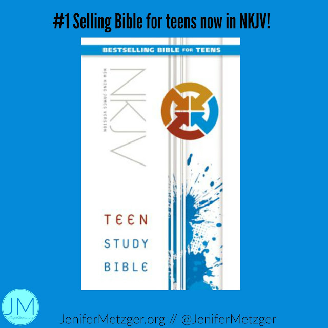 Review of the Teen Study Bible. Now in NKJV. #zondervan #zonderkidz #teenBible #Bible