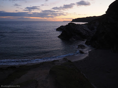 Lansallos Beach at Sunset Cornwall