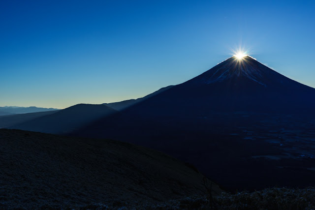 2016年元旦の初日の出ダイヤモンド富士~山梨百名山・竜ヶ岳