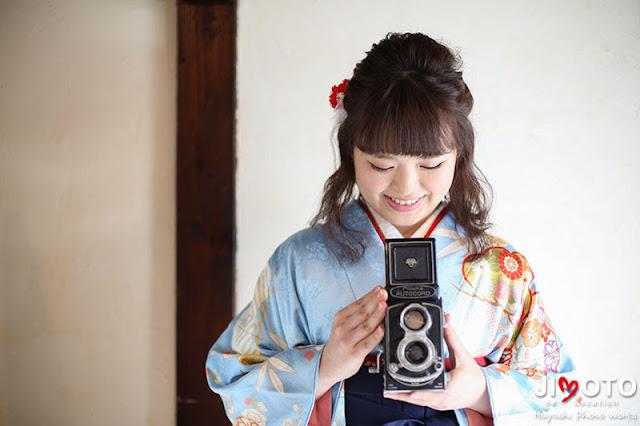 京都で袴で卒業ロケーション撮影