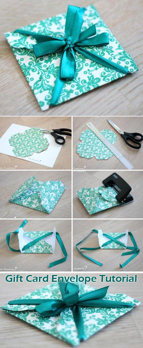 Gift Card Envelope Tutorial Templates