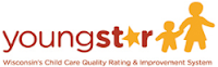 YoungStar logo with parent holding child's hand