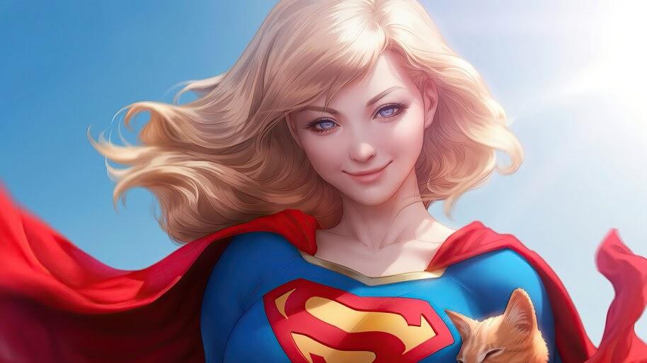 Supergirl, Smile, DC, Comics, 4K, #6.2420