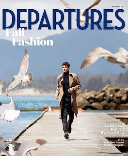 Garrett Neff Models Fall Styles for Departures September 2017 Issue