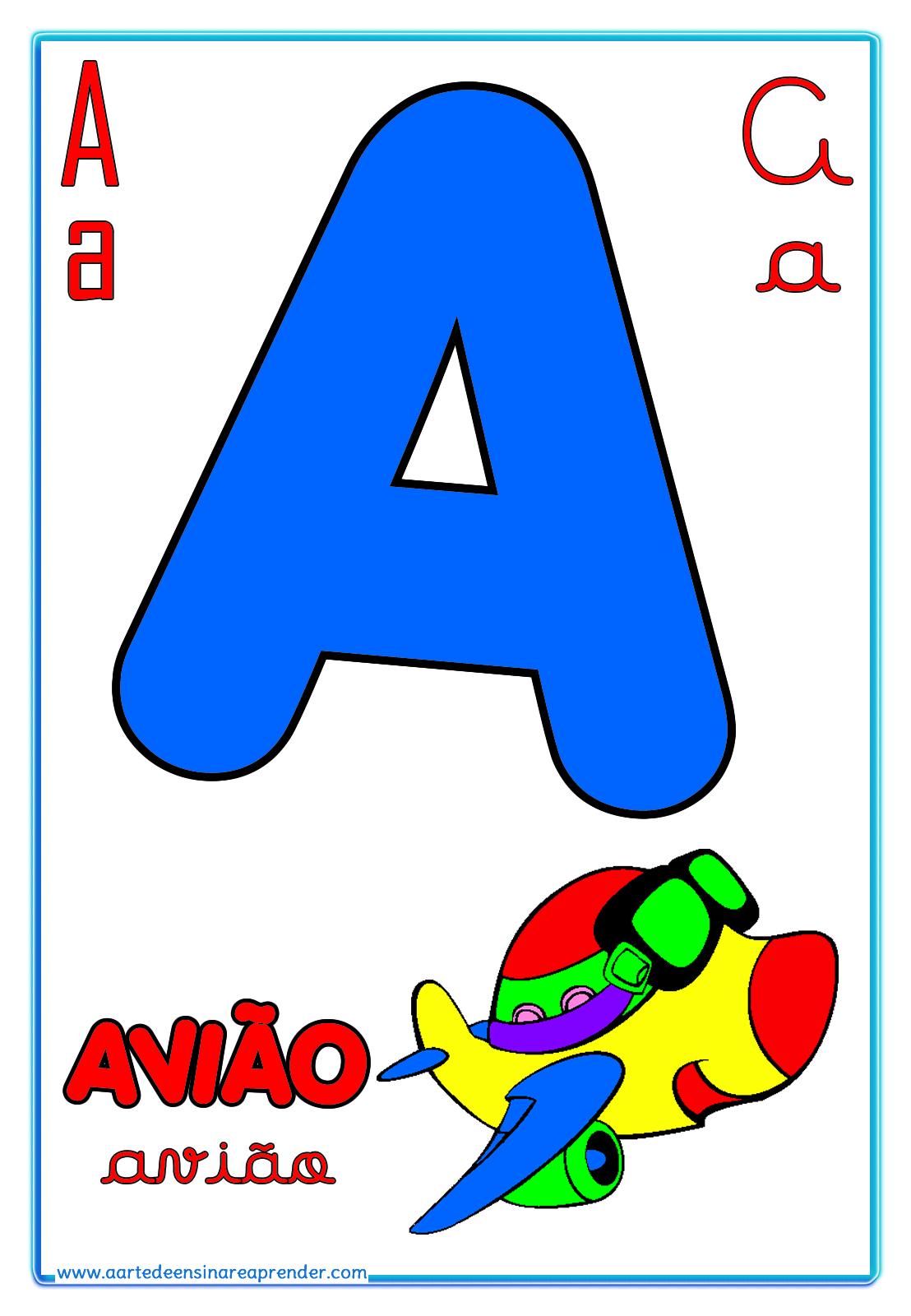 Alfabeto Quatro Tipos De Letras Reformulado A Arte De
