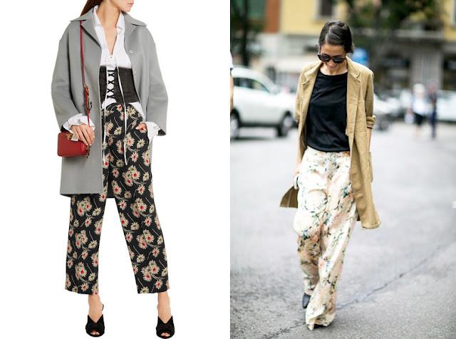 Пижамные брюки с пальто и тренчем