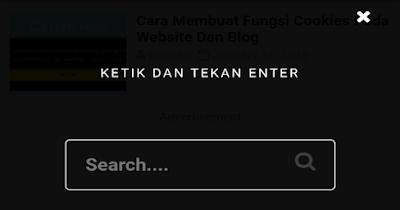 Search Box Popup Keren Pada Blog