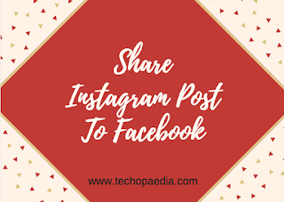 Share Instagram post to Facebook