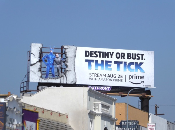 Tick Amazon Prime series billboard
