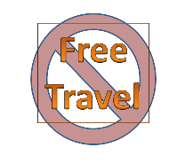 no free travel symbol