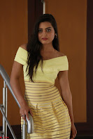 Shipra gaur in V Neck short Yellow Dress ~  052.JPG