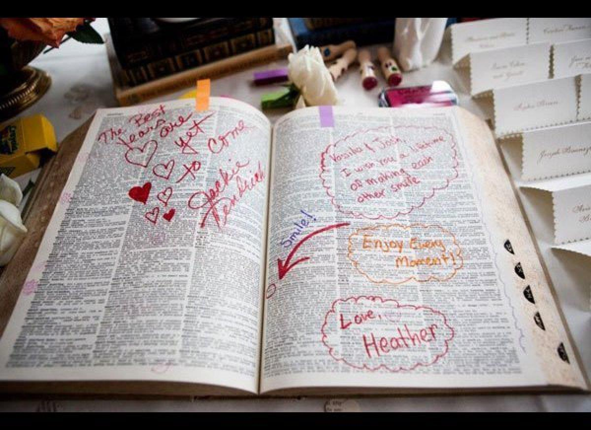 Wedding Talk Dictionary Guest Book