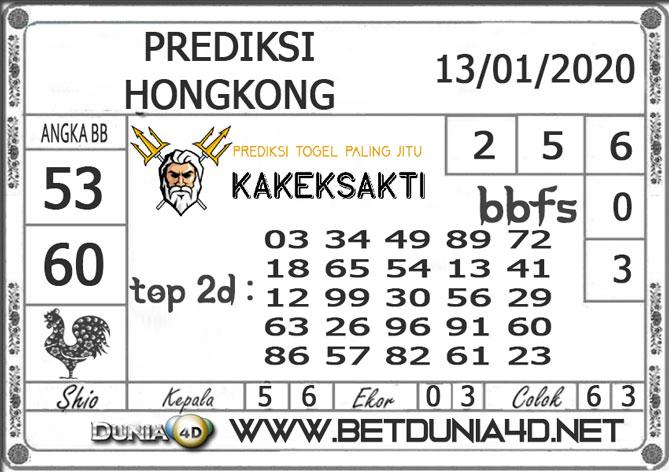Prediksi Togel HONGKONG DUNIA4D 13 JANUARI 2020