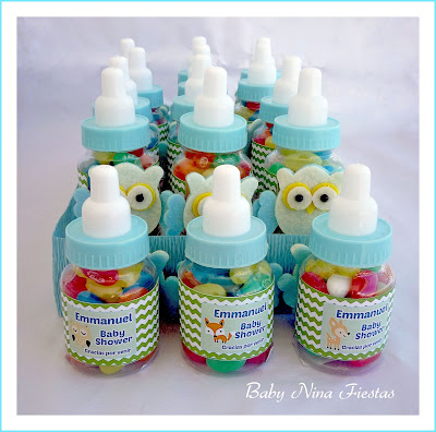 biberones personalizados baby shower