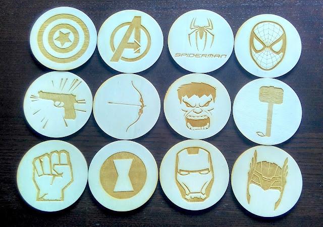 Podstawki 9cm Avengers