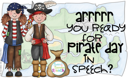 Get some fun pirate day activities for your speech therapy room