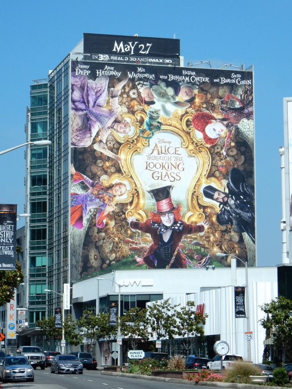 Giant Alice Through the Looking Glass movie billboard