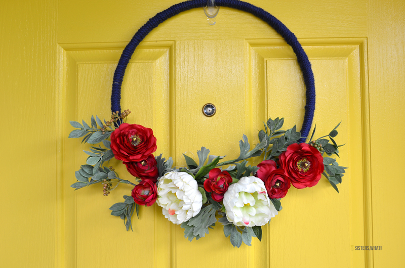 Modern and Simple 4th of July wreath