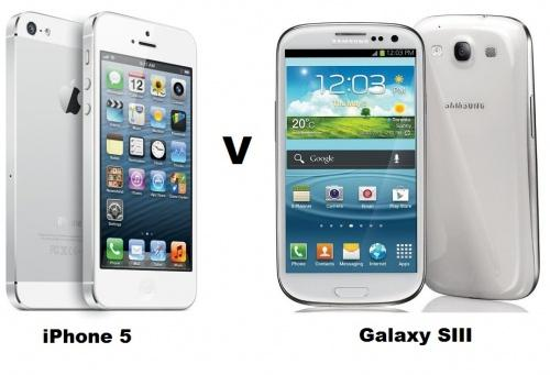 iphone vs smartphone comparison apple iphone 5 vs samsung galaxy note 2 siii 12455