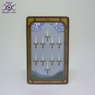 The Golden Tarot (CICO Books) - 10 of Swords